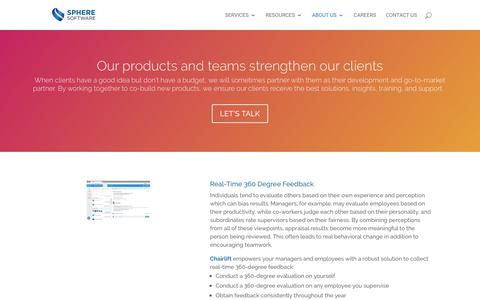 Screenshot of Products Page sphereinc.com - Products   Sphere Software - captured June 18, 2019