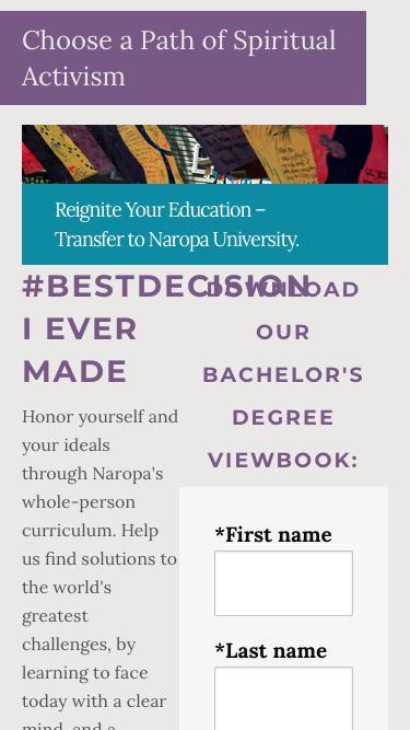 Transfer to Naropa University