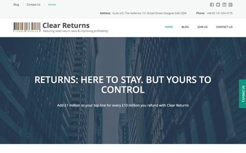 Clear Returns – Reducing retail return rates & improving profitability