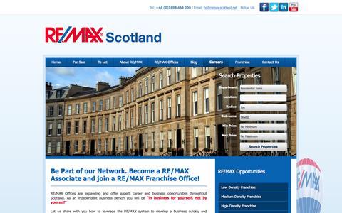 Screenshot of Jobs Page remax-scotland.net - Remax Scotland - Careers - captured Oct. 7, 2014