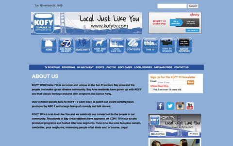 Screenshot of About Page kofytv.com - About Us | KOFY TV - captured Nov. 6, 2018
