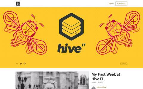 Screenshot of Blog medium.com - Hive IT – Medium - captured Sept. 29, 2018