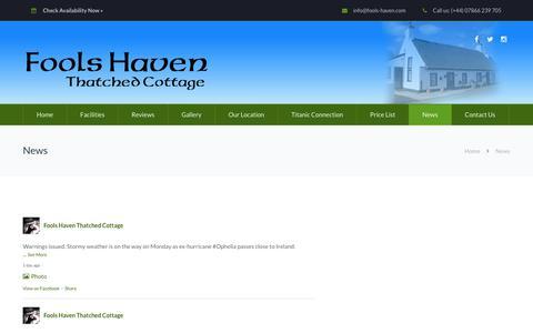 Screenshot of Press Page fools-haven.com - News - Fools Haven - captured Oct. 14, 2017