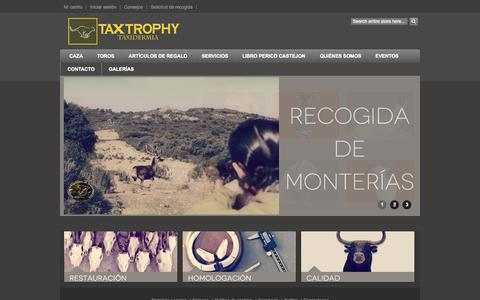 Screenshot of Home Page taxtrophy.com - TaxTrophy Taxidermia - captured Sept. 1, 2015