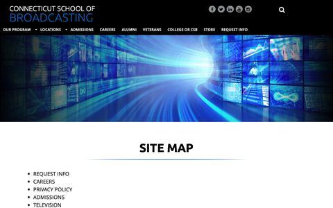 Screenshot of Site Map Page gocsb.com - site map - captured Oct. 18, 2018