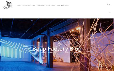 Screenshot of Blog soapfactory.org - Soap Factory Blog — Soap Factory - captured Oct. 18, 2018