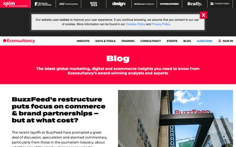 Screenshot of Blog econsultancy.com - Digital marketing blog - Econsultancy - captured Feb. 6, 2019