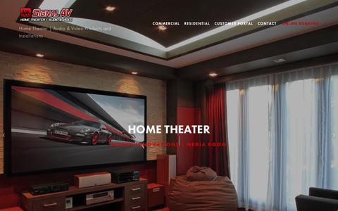 Screenshot of Home Page signalaudiovisual.com - Signal Audio Visual - captured June 19, 2017