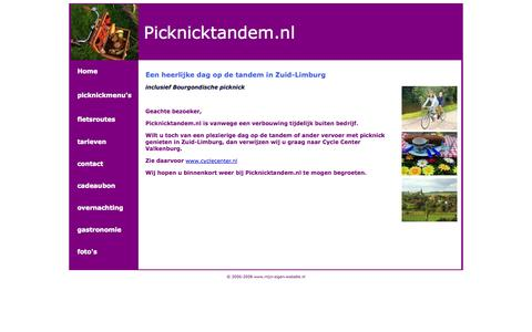 Screenshot of Home Page picknicktandem.nl - Picknicktandem.nl - captured Oct. 2, 2014