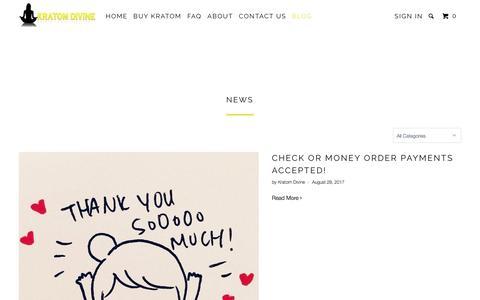Screenshot of Press Page kratomdivine.com - News - Kratom Divine - captured Oct. 16, 2017