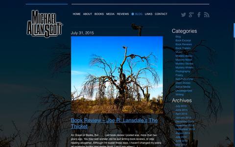 Screenshot of Blog michaelallanscott.com - Michael Allan Scott - captured Jan. 19, 2016