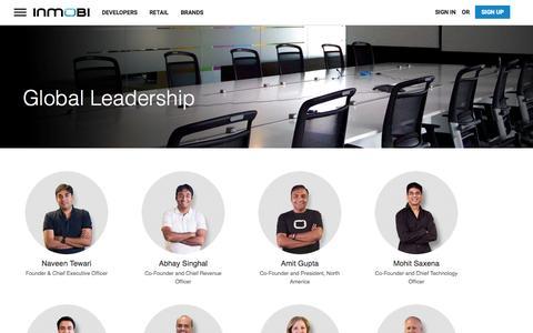 Screenshot of Team Page inmobi.com - Management | InMobi - captured Oct. 26, 2015