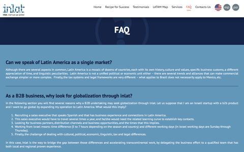 Screenshot of FAQ Page inlat.biz - FAQ   inlat - captured Dec. 15, 2015