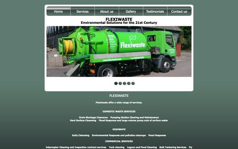 Screenshot of Services Page flexiwaste.com - Flexiwaste - captured Oct. 6, 2014