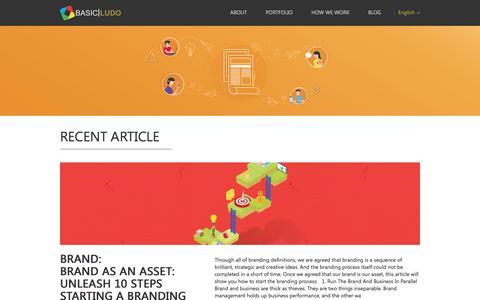 Screenshot of Blog basicludo.com - BASIC LUDO - Brand Management Consulting - captured Sept. 28, 2017