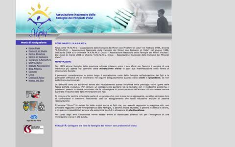 Screenshot of Home Page anfamiv.it - Associazione Nazionale delle Famiglie dei Minorati Visivi - captured Feb. 3, 2016