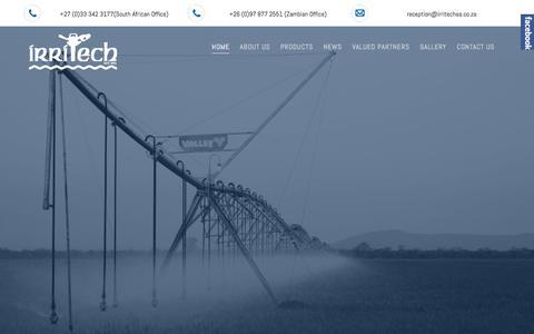 Screenshot of Home Page irritechsa.co.za - Home - captured Oct. 15, 2017
