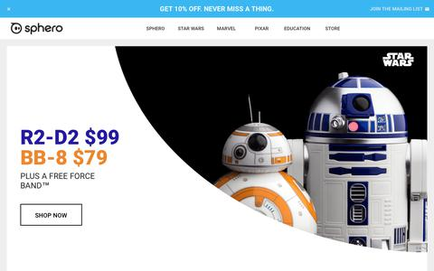 Screenshot of Home Page sphero.com - Sphero | Connected Toys - captured March 2, 2018