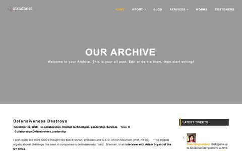 Screenshot of Team Page stradanet.com - Leadership – Stradanet - captured Nov. 18, 2018