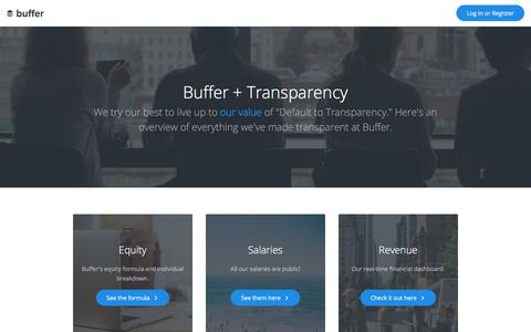 Buffer's transparency dashboard: Public salaries, equity and more