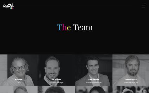 Screenshot of Team Page icatch-marketing.com - The Team › iCatch Marketing - captured Oct. 15, 2017