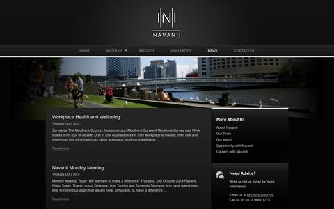 Screenshot of Press Page navanti.com - News - Navanti Group - captured Oct. 9, 2014