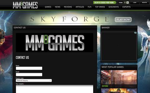 Screenshot of Contact Page mmogames.com - Contact Us - MMOGames.com - captured Jan. 28, 2016