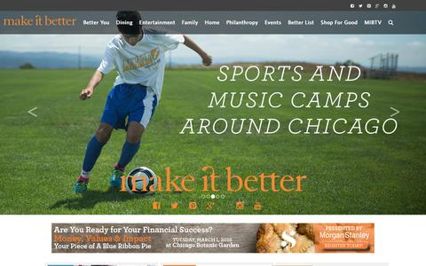 Screenshot of Home Page makeitbetter.net - Make It Better – Family, Finances & Philanthropy - captured Feb. 4, 2016