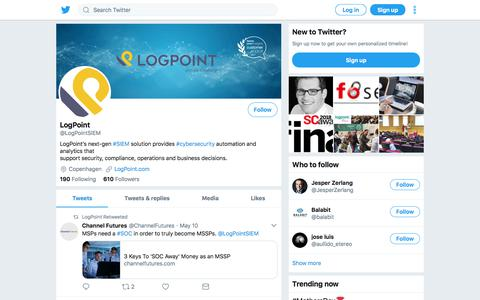 Tweets by LogPoint (@LogPointSIEM) – Twitter