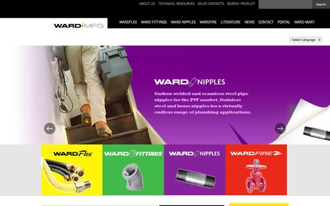 Screenshot of Home Page wardmfg.com - WARDMFG - captured Feb. 16, 2016