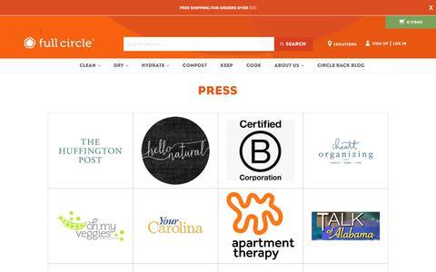 Screenshot of Press Page fullcirclehome.com - Press                      – Full Circle Home - captured Sept. 9, 2017
