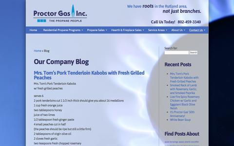 Screenshot of Blog proctorgas.com - Blog Page 1 - Rutland County VT - Proctor Gas - captured Nov. 13, 2016