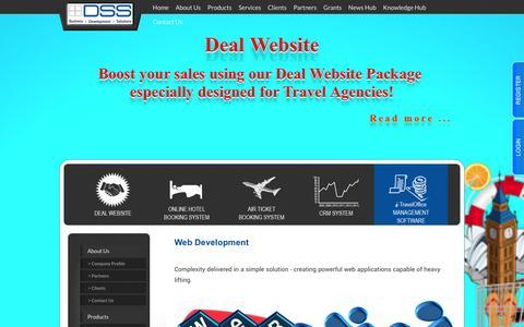 Screenshot of Services Page dss.com.sg - Distributed Software Solution Pte Ltd. - captured Oct. 5, 2014