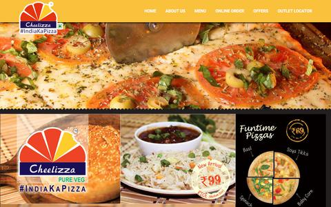 Screenshot of Menu Page cheelizza.com - Cheelizza : About - captured Oct. 23, 2017