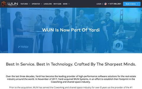 Screenshot of About Page wunsystems.com - About Coworking Management - WUN - captured Oct. 14, 2018