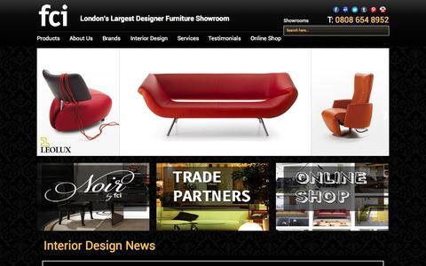 Screenshot of Home Page fcilondon.co.uk - fci - London's largest designer furniture showroom - captured Sept. 24, 2014