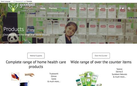 Screenshot of Products Page goodpillpharmacy.com - GoodPill Pharmacy and Medical Supply Products - GoodPill Pharmacy and Medical Supply - captured July 25, 2015