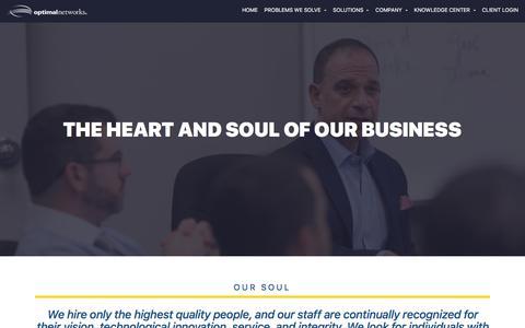 Screenshot of Team Page optimalnetworks.com - Team | IT Support | DC, Maryland, Virginia - captured Oct. 20, 2017