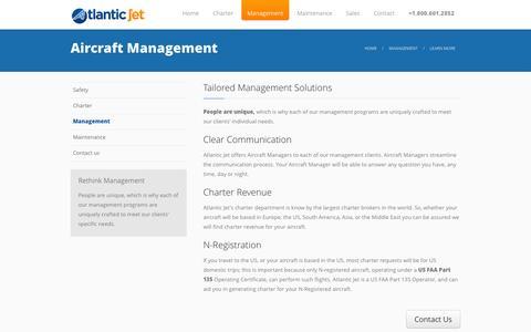 Screenshot of Team Page atlanticjet.com - Aircraft Management - captured Nov. 2, 2014