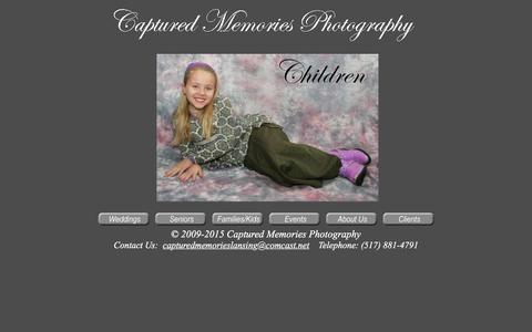 Screenshot of Home Page capturedmemorieslansing.com - Captured Memories Photography Home - captured March 28, 2016