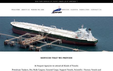 Screenshot of Services Page seaportagencies.com - SERVICES — Seaport Agencies - captured Nov. 17, 2016