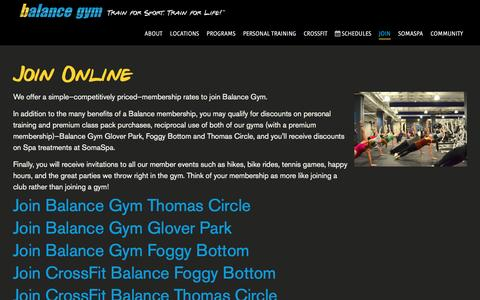 Screenshot of Signup Page balancegym.com - Balance Gym \| Voted Best Gym in DC \| Join: (202) 730-0003 - captured Dec. 29, 2015