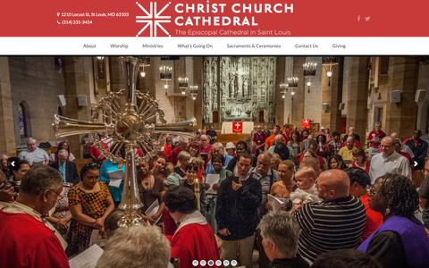 Screenshot of Home Page christchurchcathedral.us - Christ Church Cathedral - captured Sept. 28, 2018