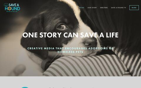 Screenshot of Home Page saveahound.com - Save A Hound - captured Jan. 30, 2015