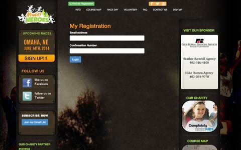 Screenshot of Login Page muddyheroesrun.com - Muddy Heroes Kids Obstacle Run - captured Oct. 7, 2014