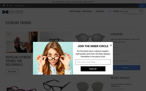 Screenshot of Blog daasoptique.com - Eyewear Trends - Daas Optique - captured Dec. 19, 2018