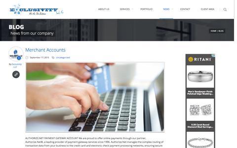 Screenshot of Press Page exclusivityllc.net - Blog - Exclusivity LLCExclusivity LLC - captured Dec. 13, 2015