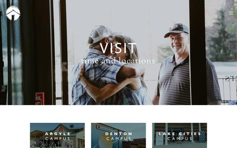 Screenshot of Contact Page crosstimberschurch.org - Visit — Cross Timbers Church - captured July 23, 2018