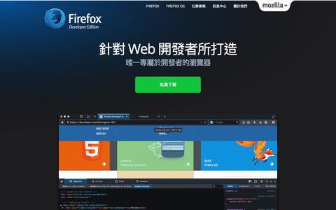 Screenshot of Developers Page mozilla.com.tw - Firefox Developer 版本 - Mozilla Taiwan - captured Jan. 14, 2016