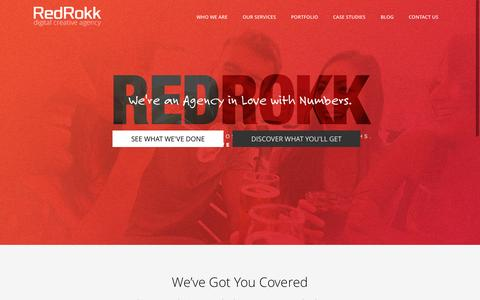 Screenshot of Home Page redrokk.com - Digital Media Marketing Agency – Red Rokk   Digital Creative Agency - captured Sept. 12, 2015